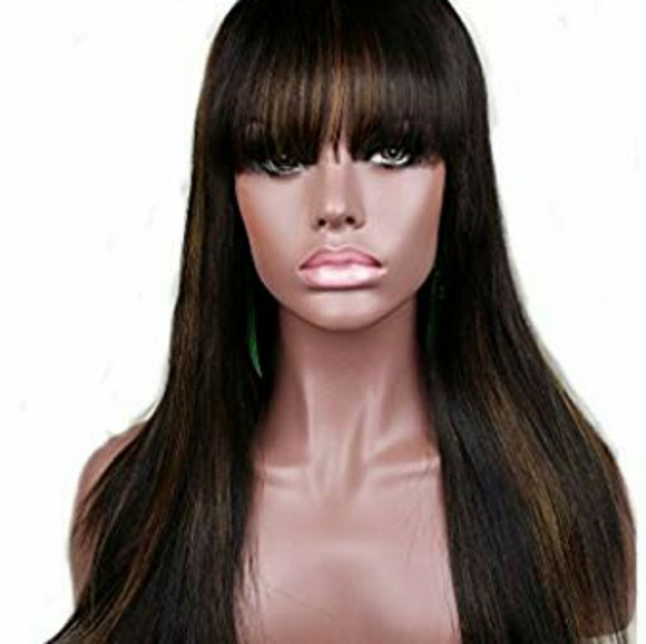 Other - Silky Straight Highlights Synthetic Hair Wig with
